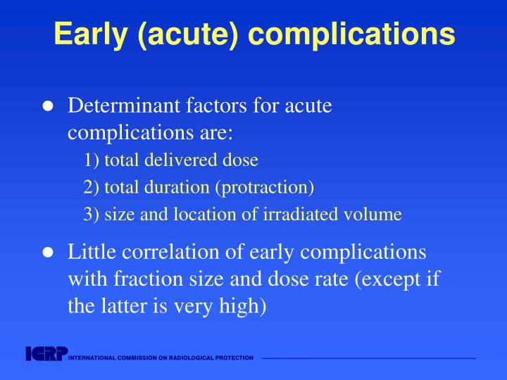 Early (acute) complications