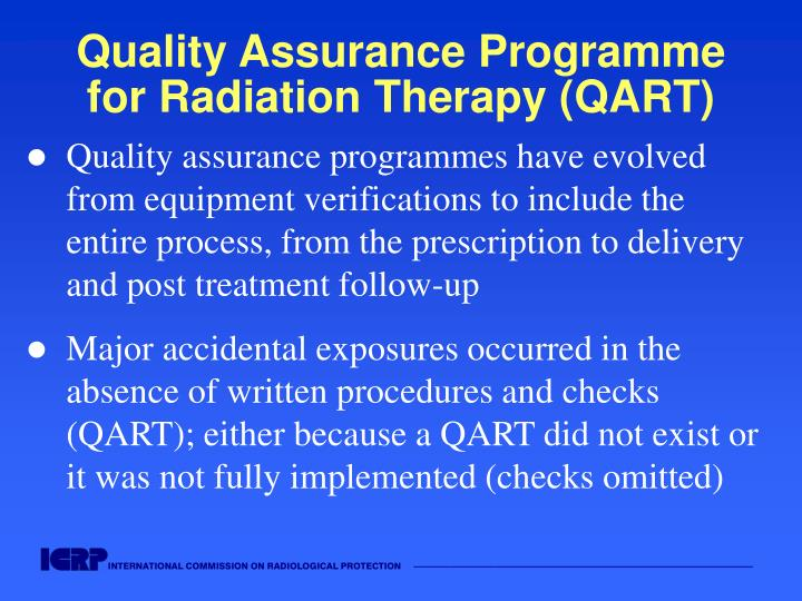 Quality Assurance Programme for Radiation Therapy (QART)