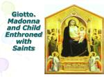 giotto madonna and child enthroned with saints