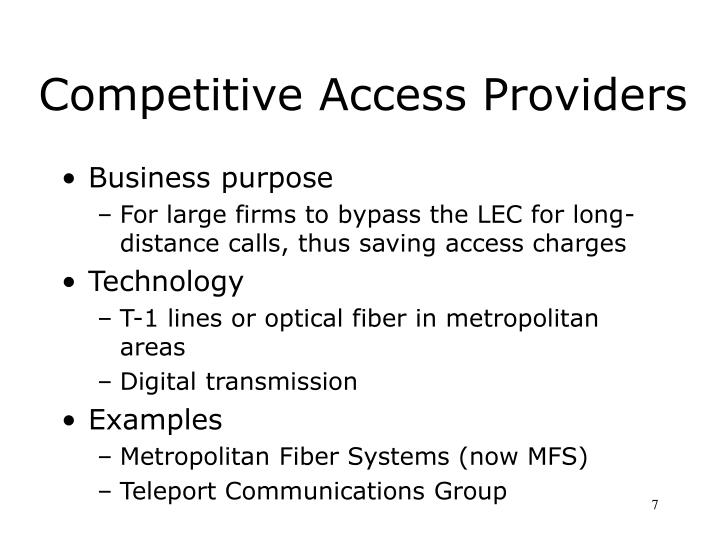 Competitive Access Providers
