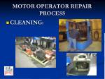 motor operator repair process3