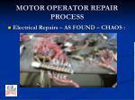 motor operator repair process5