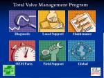 total valve management program