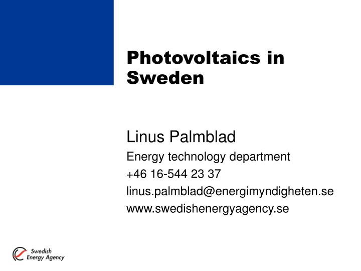 photovoltaics in sweden n.
