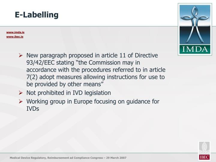 E-Labelling