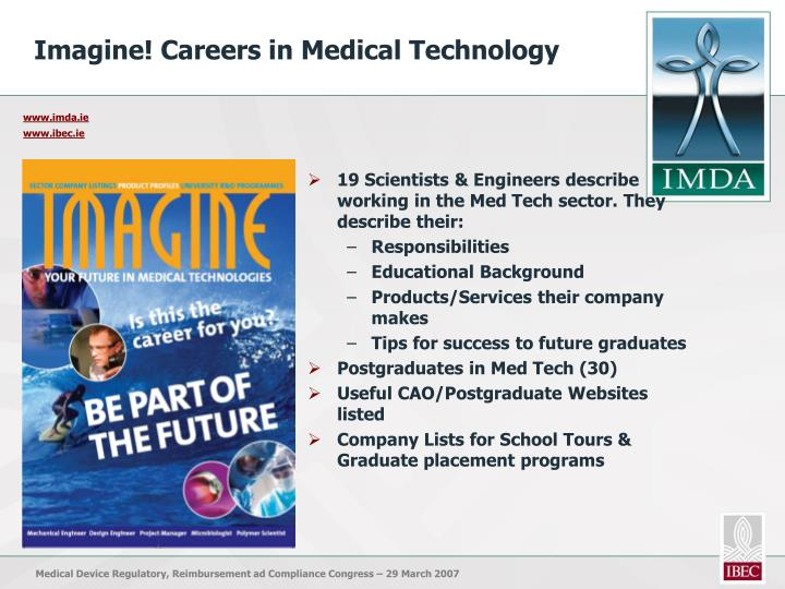 Imagine! Careers in Medical Technology