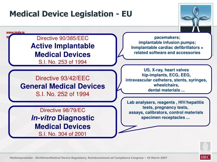 Medical Device Legislation - EU