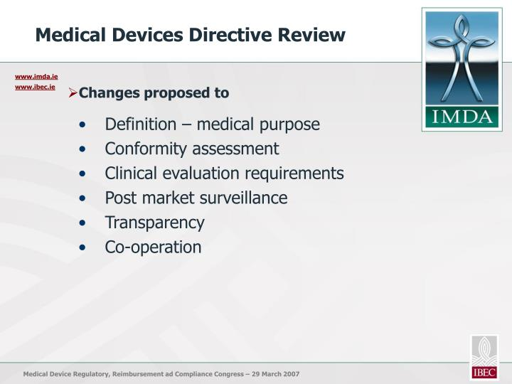Medical Devices Directive Review