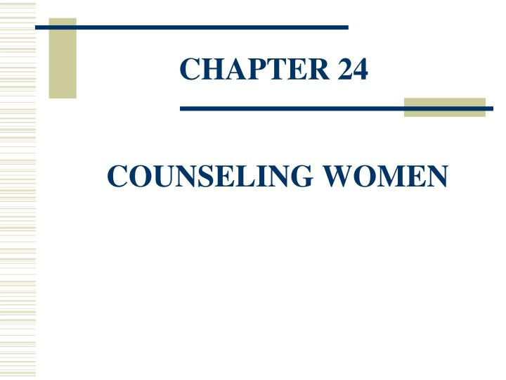 chapter 24 counseling women n.