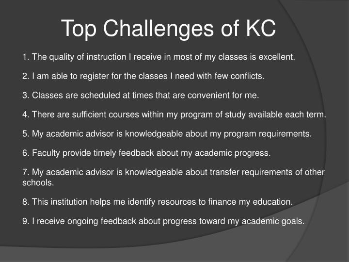 Top Challenges of KC
