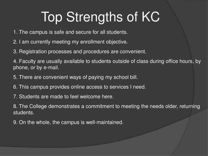 Top Strengths of KC