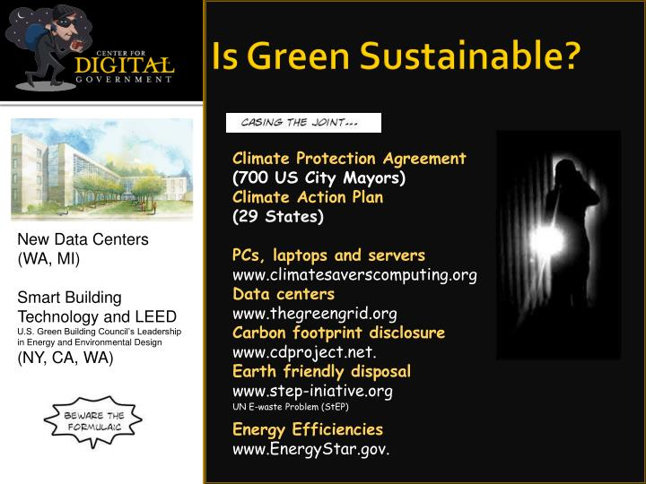 Is Green Sustainable?