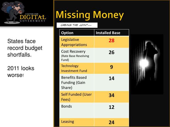 Missing Money