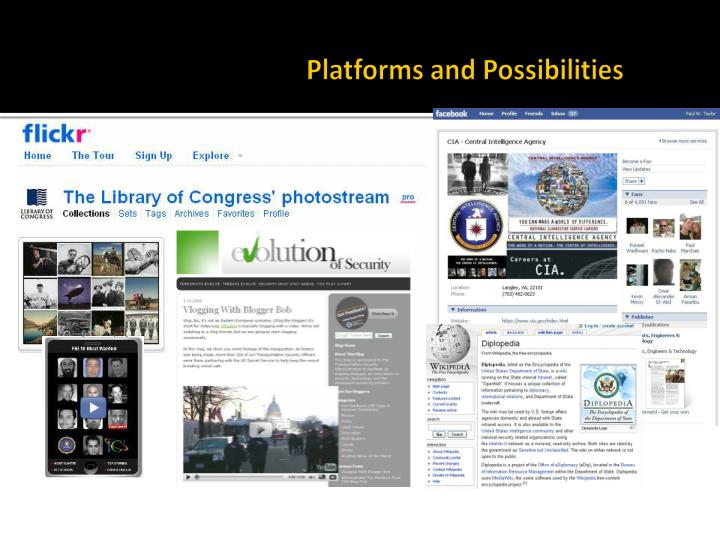 Platforms and Possibilities