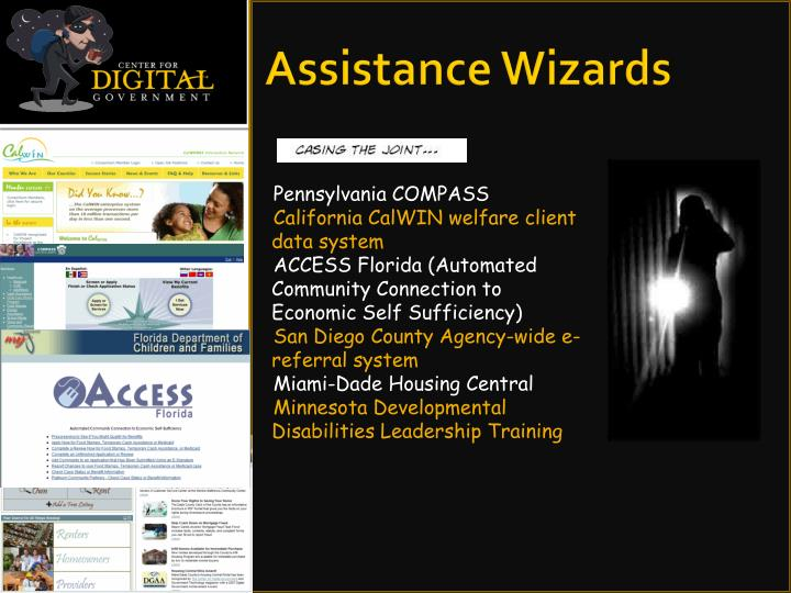 Assistance Wizards