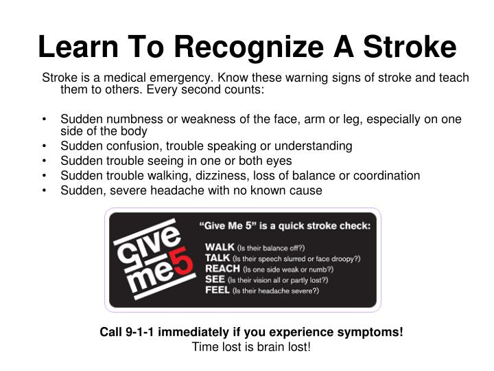 Learn To Recognize A Stroke