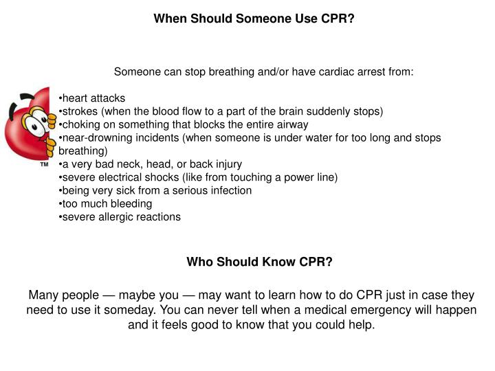 When Should Someone Use CPR?