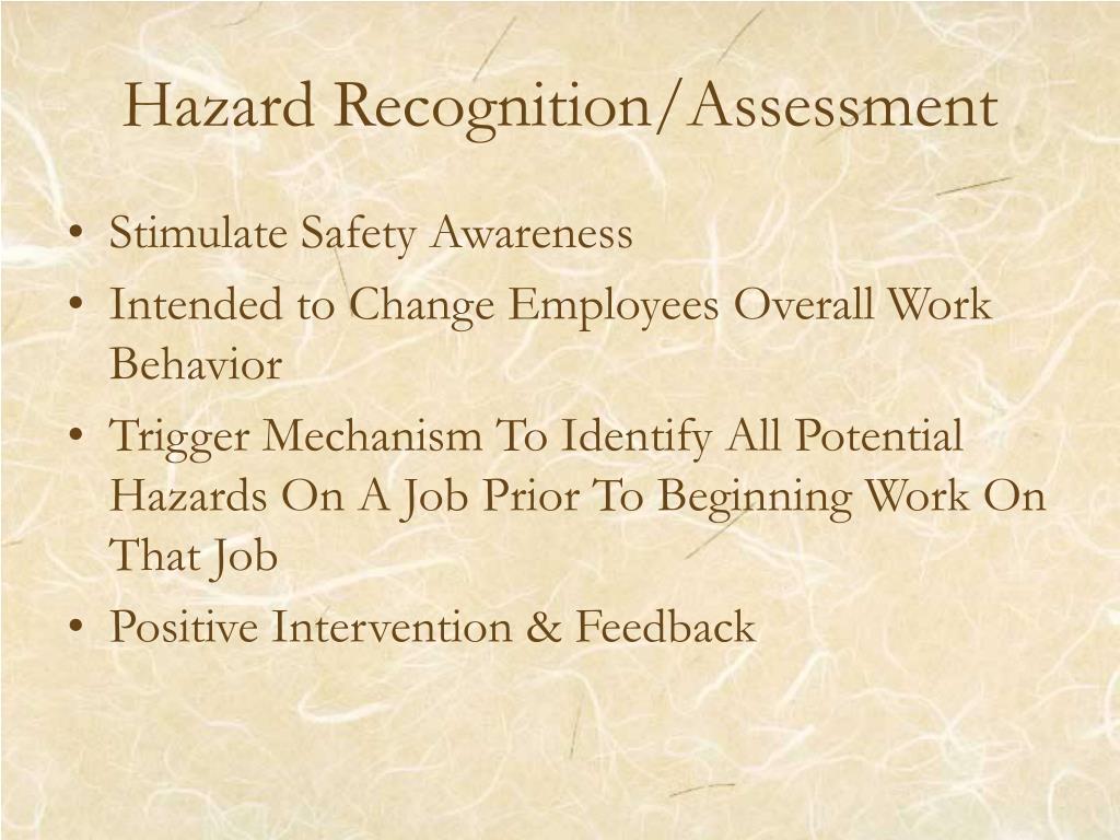 Hazard Recognition/Assessment