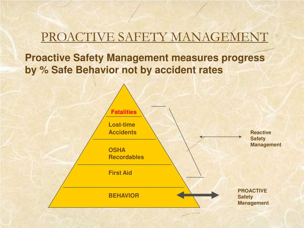 PROACTIVE SAFETY MANAGEMENT