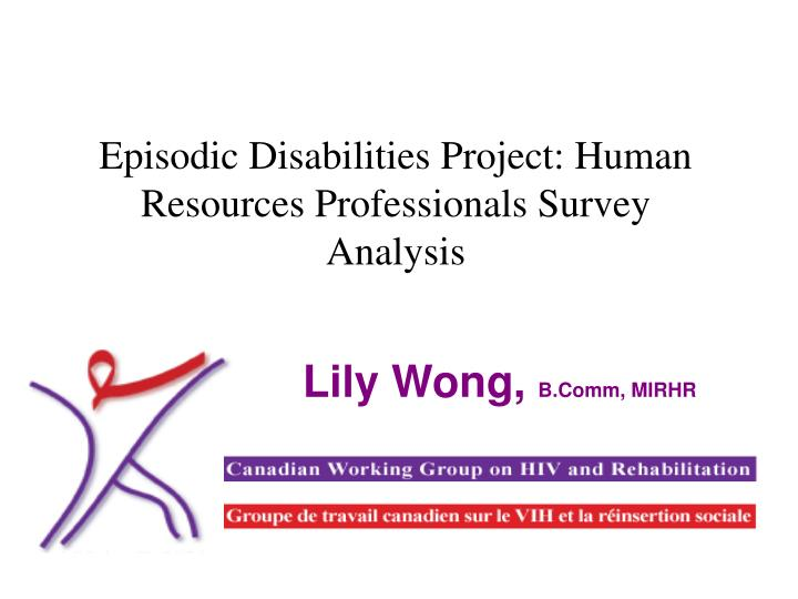 episodic disabilities project human resources professionals survey analysis n.