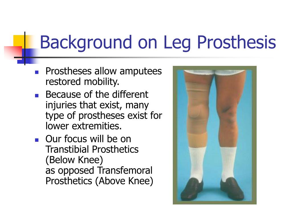 PPT - Improved Lower Limb Prosthesis PowerPoint Presentation