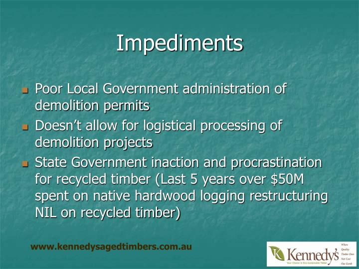 Impediments