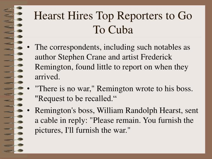 Hearst Hires Top Reporters to Go To Cuba