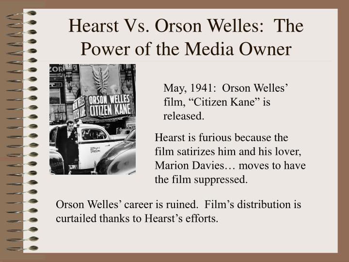Hearst Vs. Orson Welles:  The Power of the Media Owner
