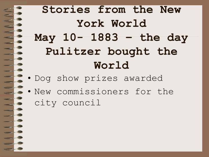 Stories from the New York World