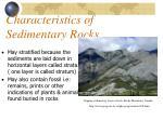 characteristics of sedimentary rocks1