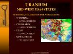 uranium mid west usa4 states wyoming colorado utah new mexico