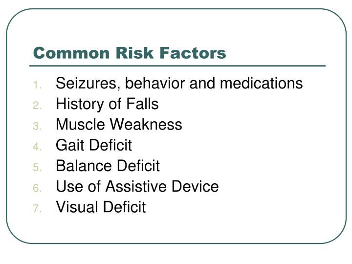 Common Risk Factors