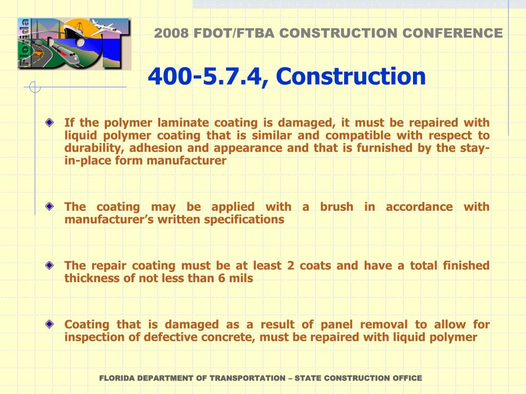 PPT - CHANGES TO SPECIFICATION 400-21, DISPOSITION OF