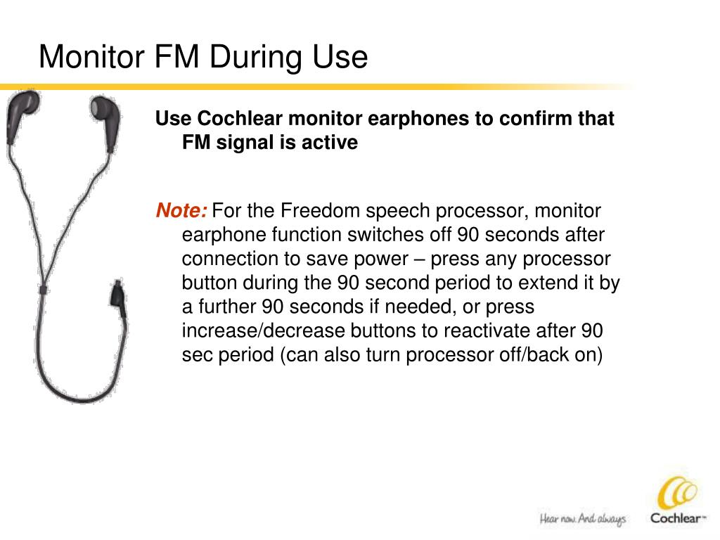 Monitor FM During Use