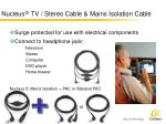 nucleus tv stereo cable mains isolation cable