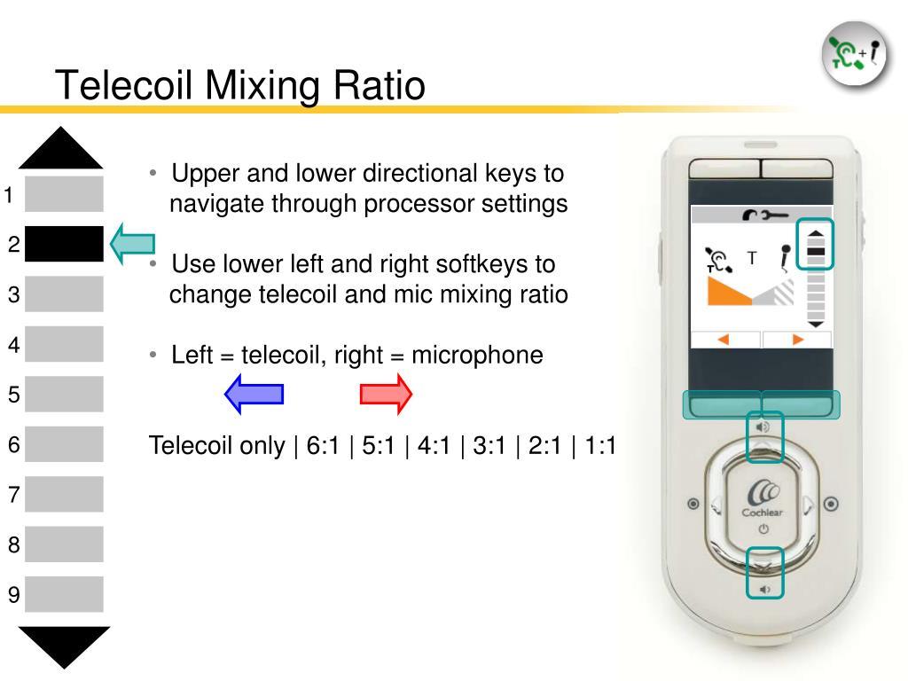 Telecoil Mixing Ratio