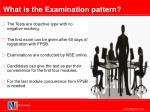 what is the examination pattern