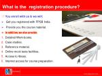 what is the registration procedure