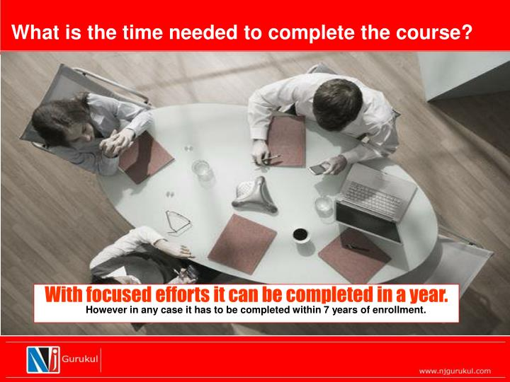 What is the time needed to complete the course?