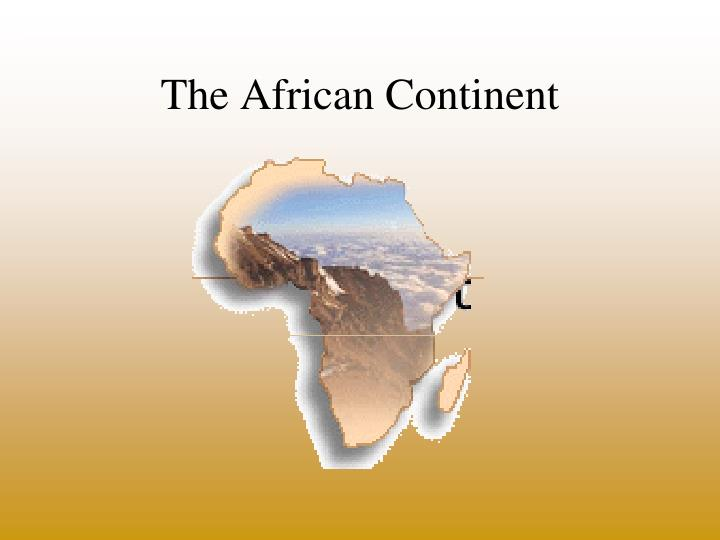 the african continent n.