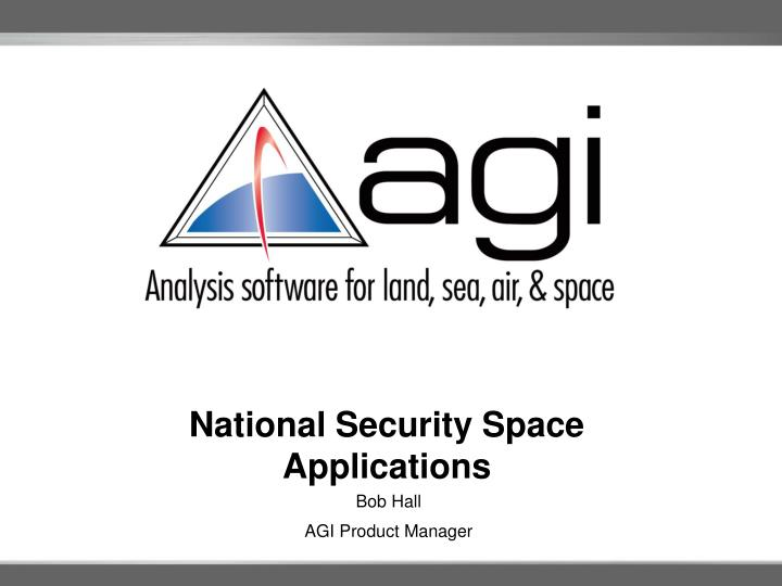 national security space applications