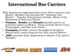 international bus carriers