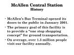 mcallen central station history