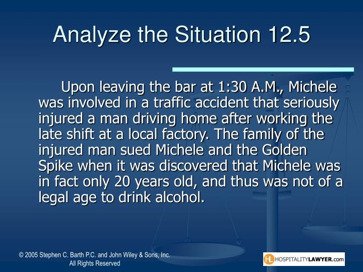 Analyze the Situation 12.5