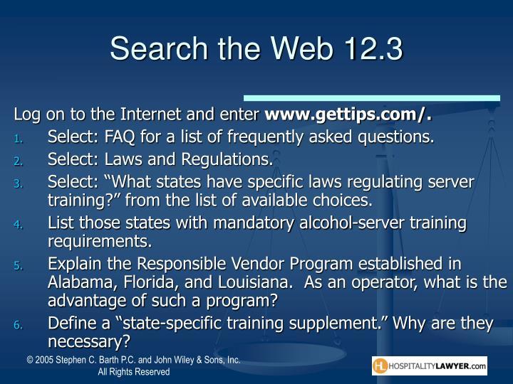 Search the Web 12.3