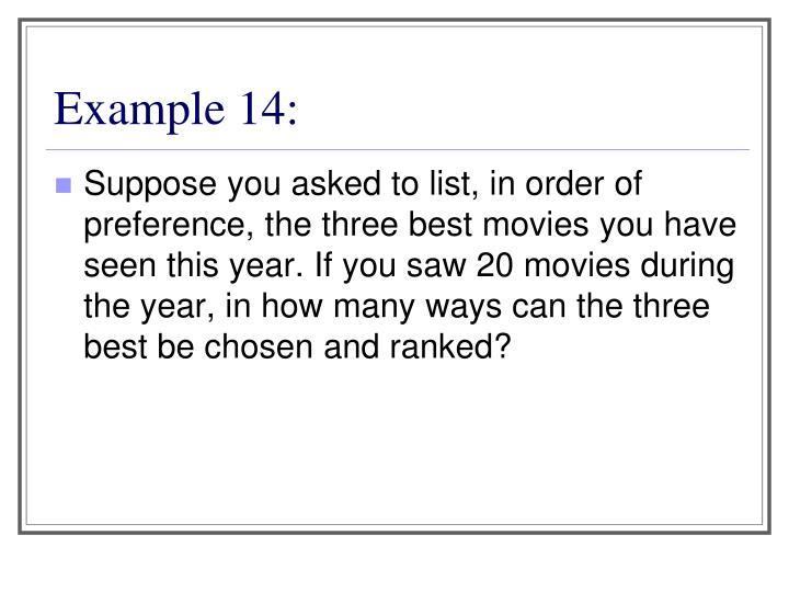Example 14: