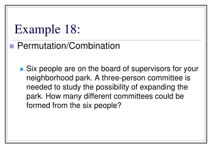 Example 18: