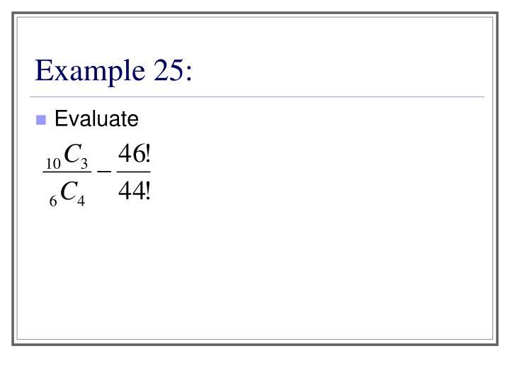 Example 25: