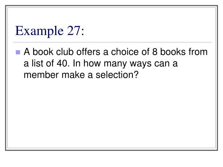 Example 27: