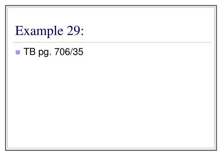 Example 29: